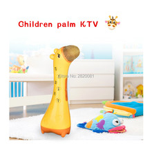 children palm KTV handheld electronic microphone deer model Wireless bluetooth Singing font b Toys b font