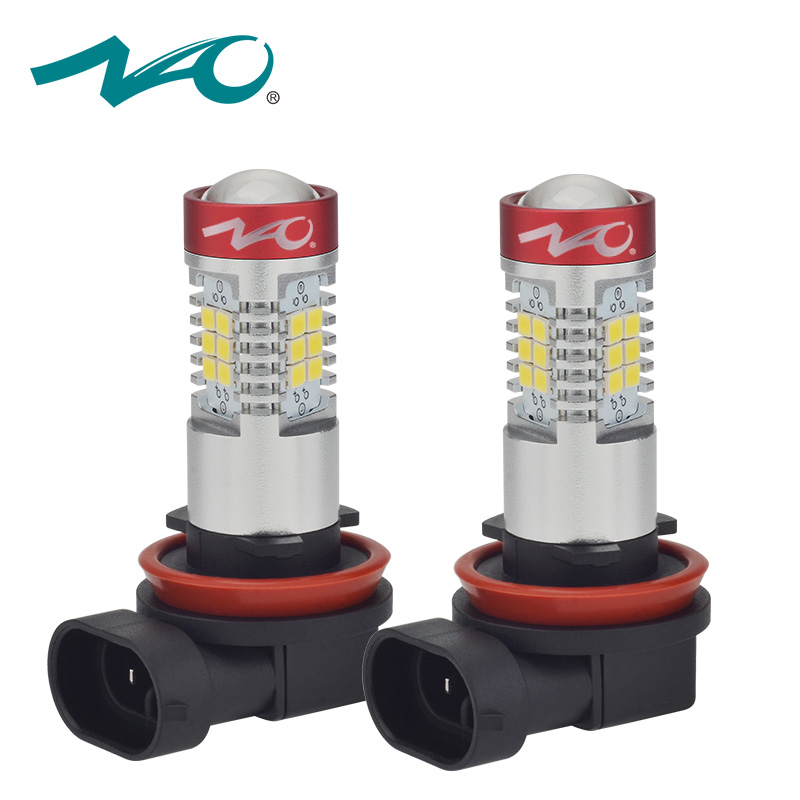 NAO 2x h11 led auto hb4 led lamp for auto fog light 12V H16 H9 hb3 led bulb Automobiles DRL H10 9006 car light 9005 1200LM 6000K h1 super bright white high power 10 smd 5630 auto led car fog signal turn light driving drl bulb lamp 12v