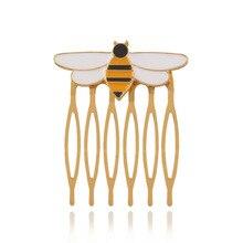 1pcs super fire creative new Japanese cute yellow bee Superhero HairwearHigh Quality hairpin ladybug Reddy wasp comb woman