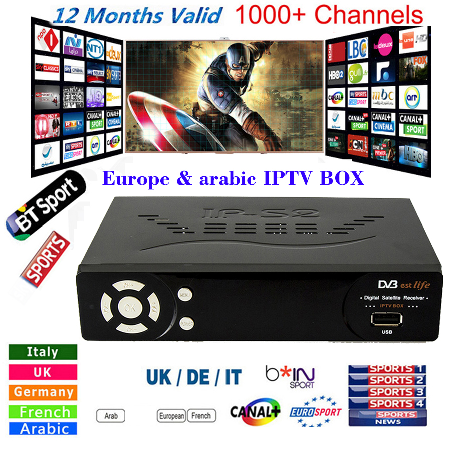 1150+ Channels Free IPTV IP-S2 Plus Smart Tv Box DVB-S2 Satellite Receiver HD Full 1080P 1 Year Europe/Arabic/Italian smart IPTV телевизор samsung ue43m5550 43 дюйма smart tv full hd