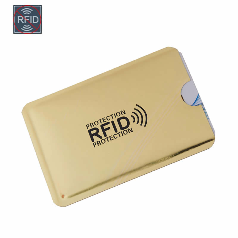 Casual Laser Aluminium Metal Credit Anti Rfid Wallet Blocking Reader Lock Bank Card Holder ID Bank Card Case Business Protection