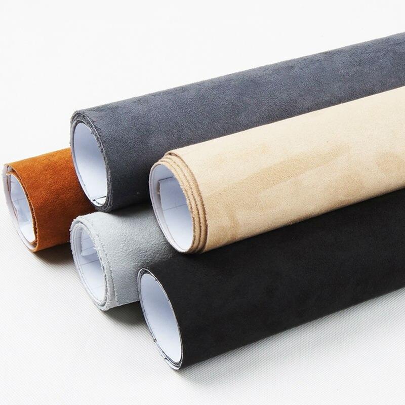 Carbins tecido grande pilha com autoadesivo tecido rolo de filme para o interior do carro styling DIY 5 metros 7 cores