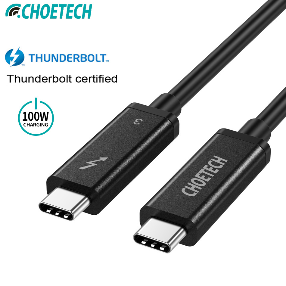 CHOETECH Thunderbolt 3 Cable 40Gbps 100W Charging Support 5K UHD display 4K 60HZ USB Type C