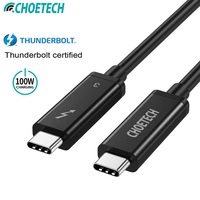 CHOETECH Thunderbolt 3 Cable 40Gbps 100W Charging Support 5K UHD display 4K 60HZ USB Type C HDMI Cable For 2016 2018 Macbook Pro