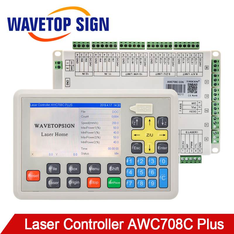 WaveTopSign Trocen Anywells AWC708C Plus CO2 Laser Controller DSP System Model Mainboard For Laser Cutting Engraving