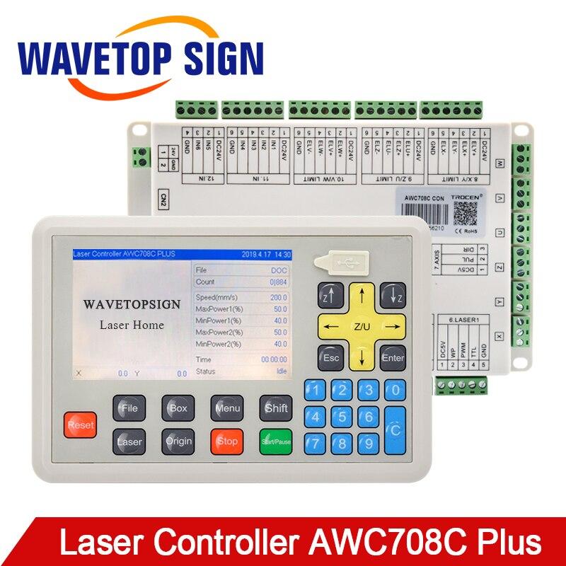 WaveTopSign Trocen Anywells AWC708C Plus CO2 Modelo de Sistema Mainboard DSP Controlador de Laser Para Corte A Laser Máquina de Gravura