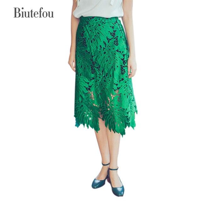 2017 de moda de verano bordado ahueca hacia fuera la forma de Hojas ...