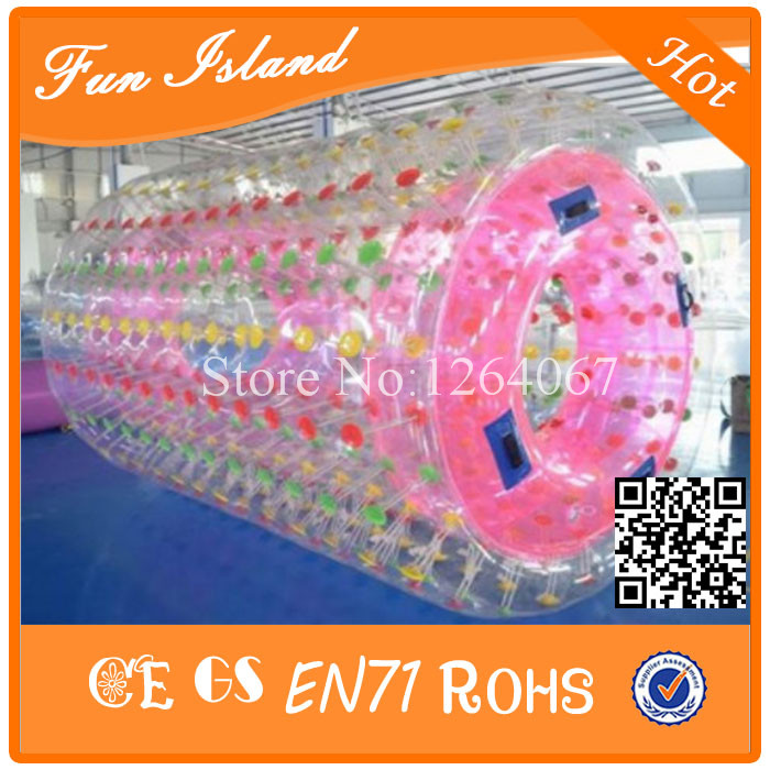 Free Shipping 2.6mL CE Inflatable Water Walking Roller Ball,0.8mm PVC Aqua Roller Ball On Sale free shipping inflatable water walking ball water rolling ball water balloon zorb ball inflatable human hamster plastic ball