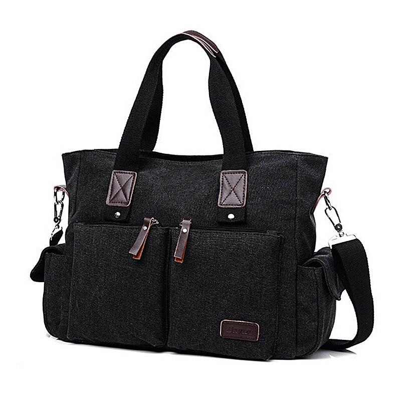 Canvas Leather Men Travel Bags Large Handbags Shoulder Bag Luggage Handbag For 11T