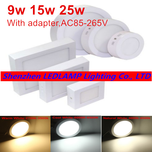 Led Super Bright Ceiling Light Kitchen Light Hallway: 9W 15W 25W Super Bright Round LED Surface Mounted Ceiling