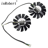 2pcs Lot PLD08010S12HH 12V 0 35A 75mm Cooler Fan 52mm Hole Distance Replacement Video Card Fan