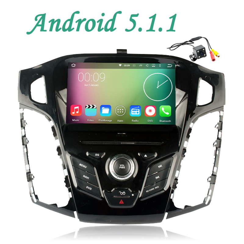 steer wheel control canbus plug/play Android 5.1 Car DVD For ford focus 3 2011 2012 2013 2014 2015 RDS radio cassette GPS wifi