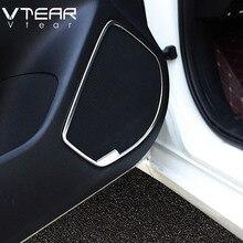 Vtear для Mazda 3 Axela аксессуары двери автомобиля аудио стерео Колонка звук громкий динамик молдинг крышка комплект внутренняя отделка 2014-2019