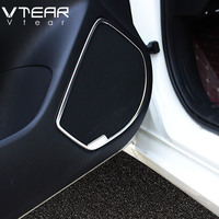 Vtear For Mazda 3 Axela Accessories Car Door Stereo Speaker Audio Sound Loudspeaker Molding Cover Kit Interior Trim 2014 2019