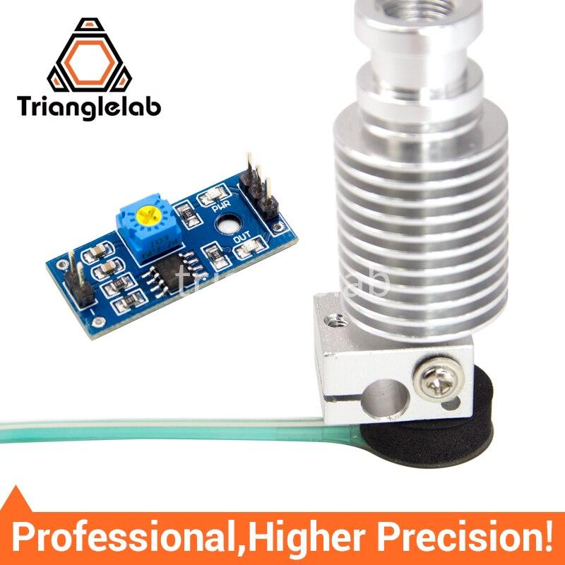 Trianglelab de alta precisión Z-Sonda de cama de nivelación de kit sensor 3D sensor táctil Kossel delta Z Eje 3D impresora para E3D MK8