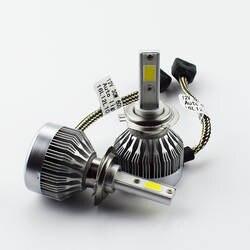 Фар автомобиля H7 H4 светодиодный Лампа Комплект H11/H8/H9 H1 HB3 9005 HB4 9006 H3 9004 60 вт 6000lm 6000 К 12 В светодиодный автомобильных Туман свет фар