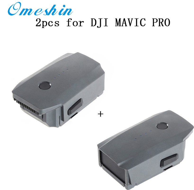 2pcs 3830mAh/11.4V Intelligent Flight Battery for DJI Mavic Pro QuadCopter Drone Inteligente de bateria de VOO drop shipping dji spark mavic multi functional shoulder bag for mavic pro hold drone and accessories original drone bags