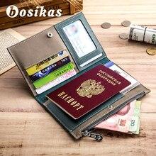 BOSIKAS Travel Paspoort Cover Card Case Dames Heren portemonnee Reizen Creditcard Tassen Reis-ID & Document Paspoort Houder Portemonnee