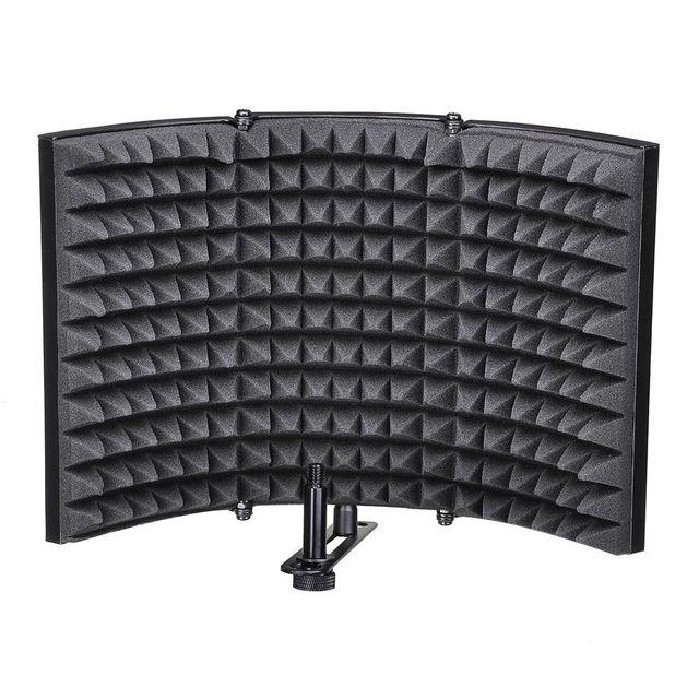 Folding Studio Microphone Isolation Shield Recording Sound Absorber Foam Panel