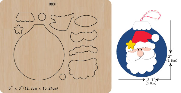 New Christmas Ornaments Wooden Die Scrapbooking C-831 Cutting Dies Multiple Sizes