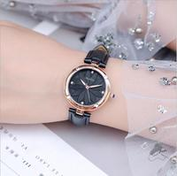 Reloj Mujer GUOU Watch Women Watches Fashion Flower Pattern Dial Ladies Watch Leather Women Watches Clock Saat relogio feminino