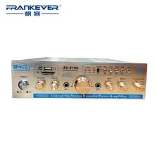 Hogar Profesional USB/TF/CD/VCD/TV HIFI Estéreo Digital Amplificador de Potencia de Audio Del Coche Subwoofer Placa Control de volumen AV-9100