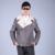 Hombres Para Coar Otoño Invierno Chaqueta de Piel Auténtica Real del Abrigo de Pieles de Lana Da Vuelta-abajo Chaqueta de Cuero de Moda Masculina Abrigo de cuero