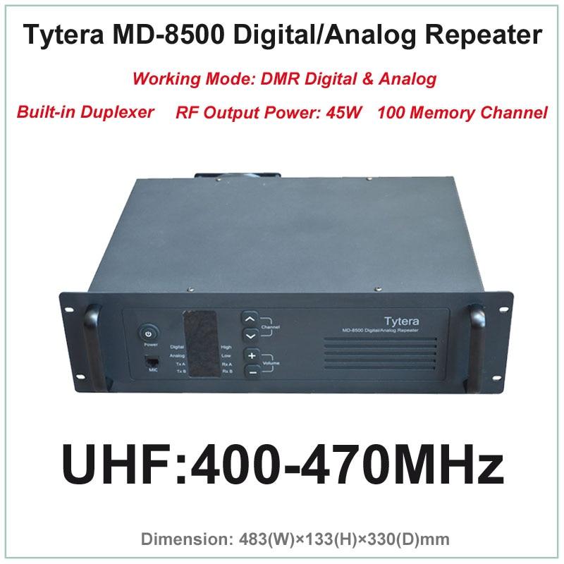 Tytera TYT MD-8500 UHF 400-470MHz DMR Digital & Analog Professional Walkie Talkie Repeater With Duplexer(RF Output Power 45W)