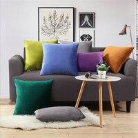 45*45 Fashion Pure Color Velvet Pillow 1pc Pillow Waist Throw Home Decor Pillows Set