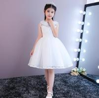 Lovely Lace Appliques Flower Girl Dresses Kids Evening Gowns For Wedding First Communion Dresses Vestido Christmas