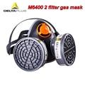 DELTAPLUS M6400 2 Filter gas maske CE zertifizierung hohe qualität Atemschutz maske Für Säure gas formaldehyd Toxischen gas maske-in Masken aus Sicherheit und Schutz bei