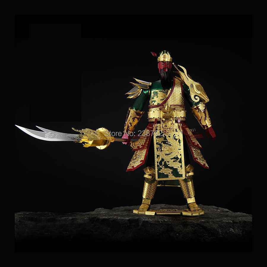 3D Metal Puzzle Model Kits soldier Guan Yu Building Model Kits Durable Brass Material Laser Cut Jigsaw Toys For Kids and Adult