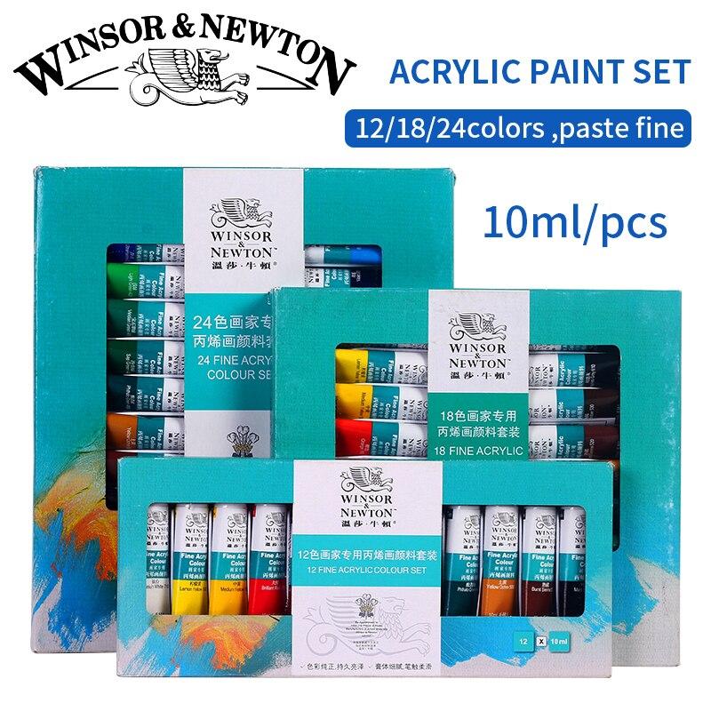 Bgln Professionelle Acrylfarben Set 12/18/24 Farben 10 ML Handgemalte Wand Zeichnung Malerei Pigment Set kunst Liefert