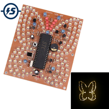 Music Butterfly Shape White LED Light DIY Kit Lighting Fun Electronic P