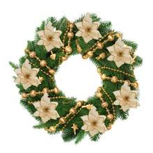 5/10PCS Artificial Flowers Christmas Tree Ornaments Christmas Decorations for Home Xmas Tree New Year Decor Navidad 2019 natale