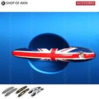 Klamka Pokrywa Flaga Union Jack i Kratkę Czapki Grafiki Dla Mini cooper clubman paceman jedno R55 R56 R57 R60 R58 R59 R61