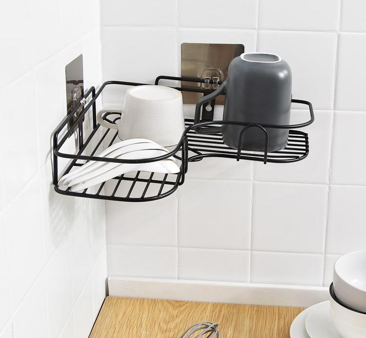 Luxury black Metal Hanging Shower Caddy Bathroom Floor Corner ...