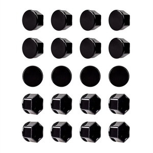 Image 4 - For Tesla Model 3 car nuts Wheel Nut Covers  Lug Nut Covers   Glossy Black car accessories wheel center hub cap cover nut bolt