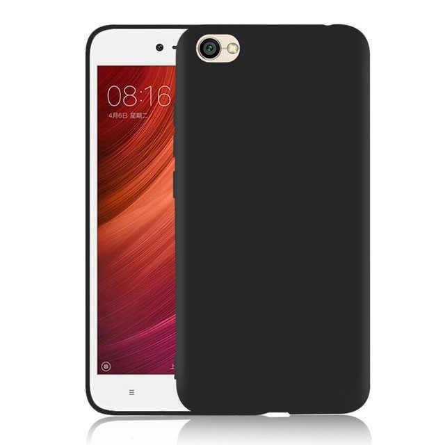 Için arka kapak Xiaomi Redmi Için Not 5A 2 GB/16 GB Standard Edition Mat Silikon TPU yumuşak kılıf redmi Y1 lite