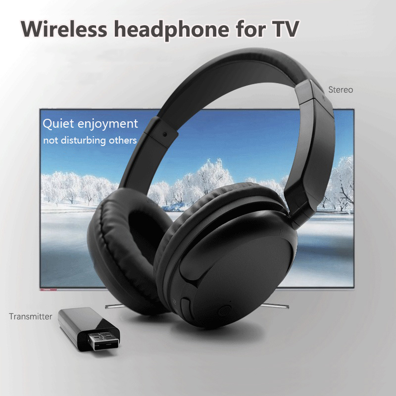 Wireless TV Headphones For TV PC Computer MP3 TV Over-Ear Headset Support FM Function With USB Transmitter PK Bingle B616