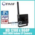 WI-FI HD 1280x960 P 1,3-МЕГАПИКСЕЛЬНОЙ Мини IP Камера Крытый Камеры Безопасности ONVIF P2P Беспроводная IP CCTV Камера