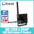 WIFI HD 1280x960 P 1.3MP Mini Cámara Ip Cámara de Seguridad ONVIF P2P Wireless CCTV IP Cam