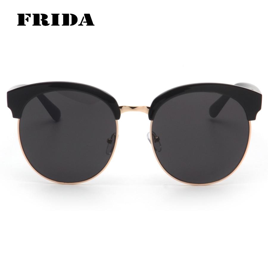 FRIDA 2016 New Fashion Famous Brand Designer Oversized Sunglasses Men Quality Shades Round Glasses font b