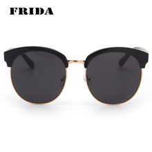 FRIDA font b 2016 b font New Fashion Famous Brand Designer Oversized Sunglasses Men Quality Shades