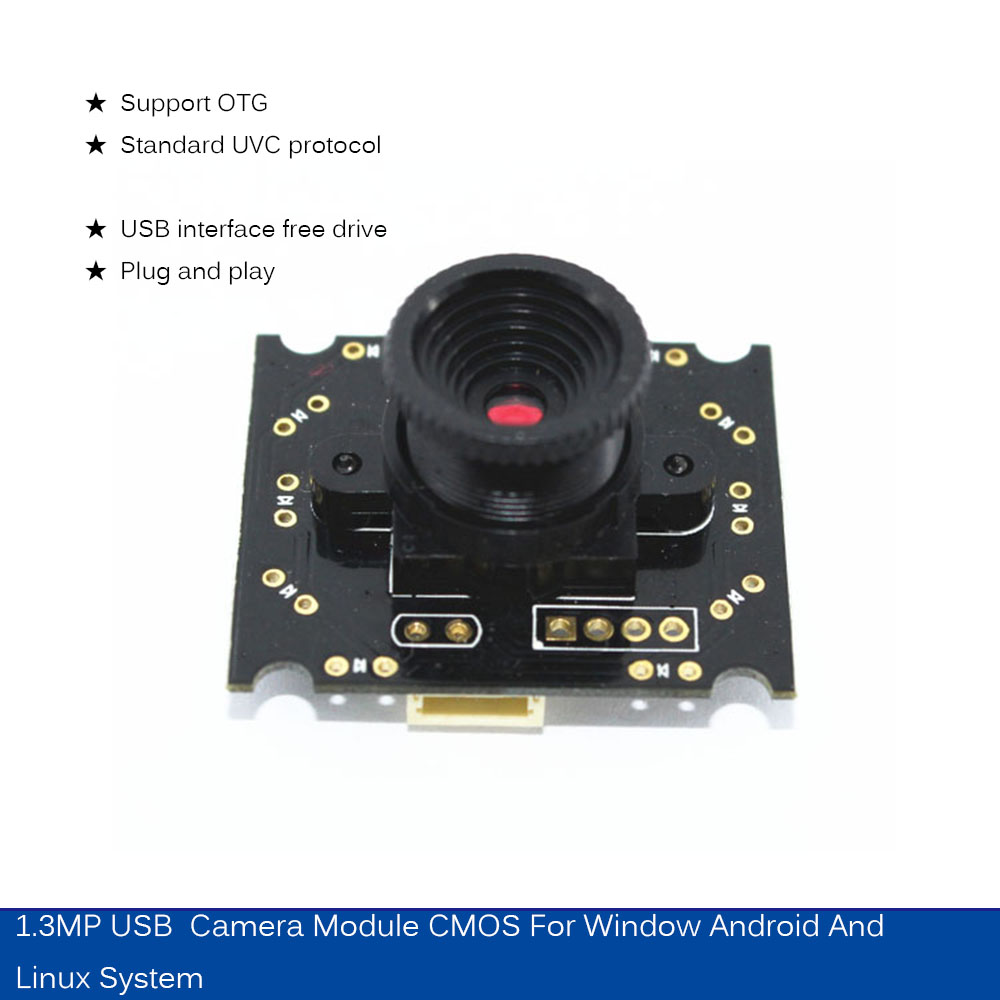 US $9 1 9% OFF|HBVCAM USB Camera Module CMOS 1 3MP USB IP camera module for  Window Android and Linux system-in Surveillance Cameras from Security &