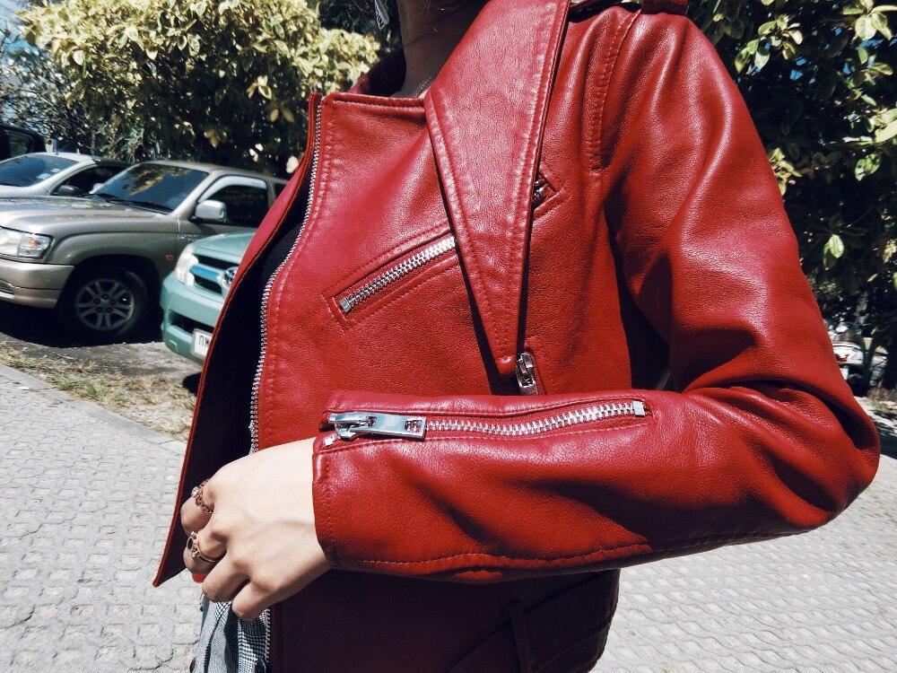 Couro Modo Delle Giacca Morbida Donne Nero Giacche Spessore Moto Faux In Nuovo Bomber rosso Pelle Marca Del Di Jaqueta 2019 grigio Nero Il ngUEwzpx