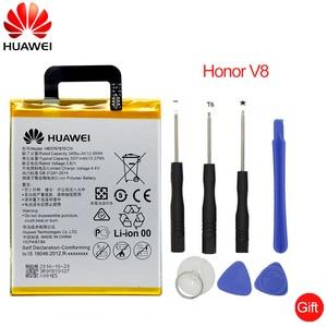 Image 1 - הואה ווי מקורי טלפון סוללה HB376787ECW עבור Huawei Honor V8 3400/3500 mAh החלפת טלפון סוללות משלוח כלים