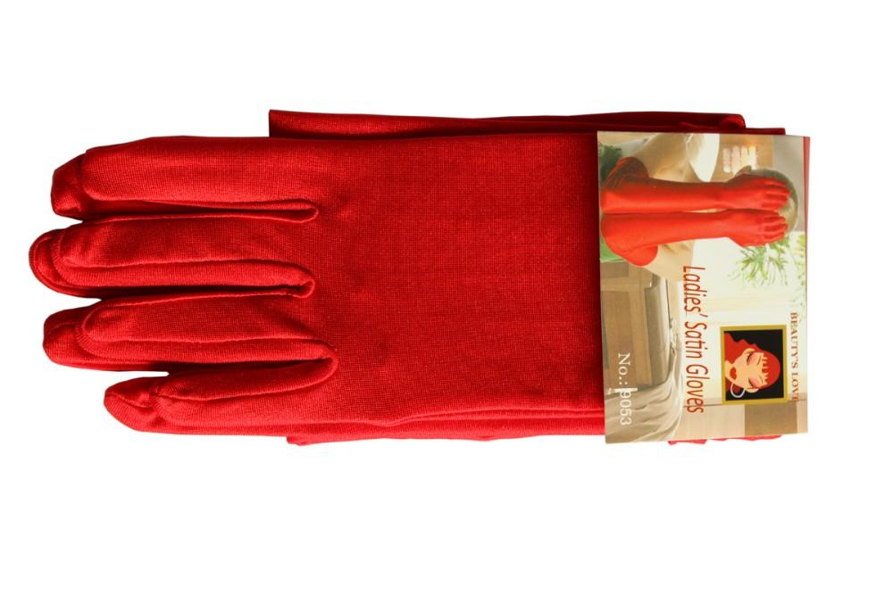 Satin Elbow Gloves