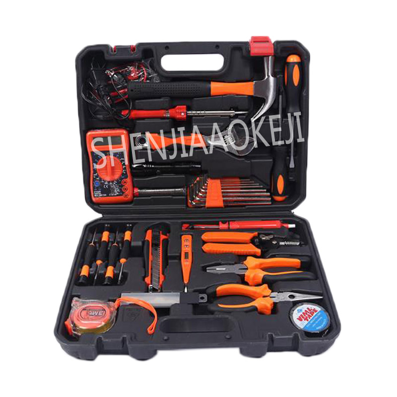Multi-function hardware tool set wrench hammer computer Multimeter water and electricity manual auto repair home tools mj hammer hammer water and waste–water technology