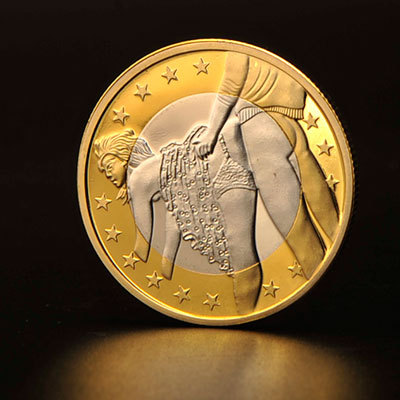 2016 Free Shipping 1pcs Sex Euros Coins German Gold Bars